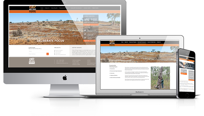 Metro Mining Website Design
